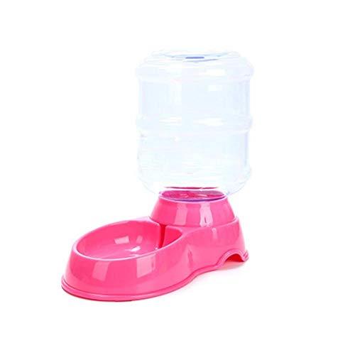 Fablcrew automáticos dispensador de Comida Cuenco de Agua para Mascotas Fiambrera Gato de plástico para Cachorros Perros Gatos