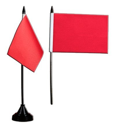 Digni® Drapeau de Table Unicolore Rouge, Mini Drapeau - 10 x 15 cm