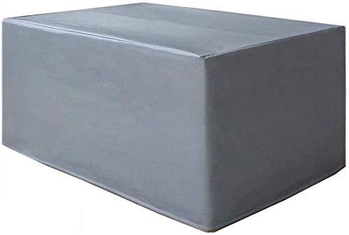 Pillowcase Cubiertas para Muebles de jardín Cubierta de Mesa para terraza Cubierta Protectora mecánica Impermeable para Exteriores 420D Tela Oxford Anti-UV 160x130x90cm, Rectángulo