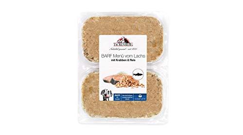 TACKENBERG Barf Hundefutter (Lachs + Krabben + Reis), Barf Futter, Barf Fleisch Hunde, 7-14 kg Frostfleisch