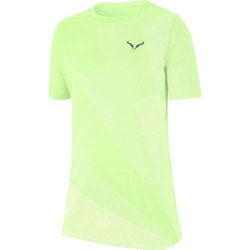 Nike Jungen NKCT Rafa GX T-Shirt, Grau (Barely Volt/Light Carbon), XS