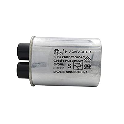 "Meter Star Microwave Capacitor Replacement 2100V 0.95uf Compatible for Amana Electrolux Ge Kenmore and Whirlpool,Connect Pin 1/4"" Standard Terminal"