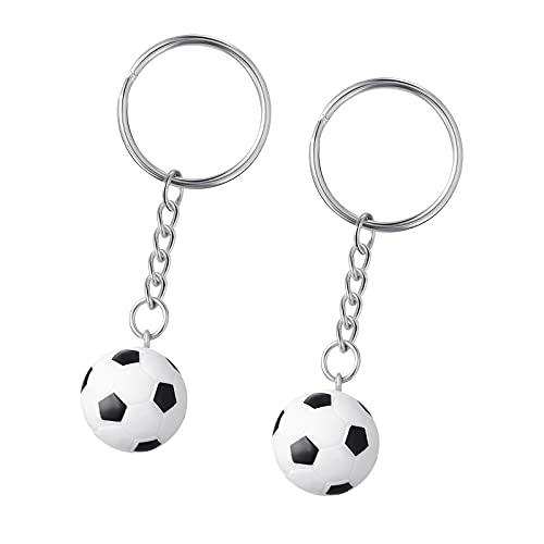 2 Portachiavi da Calcio Mini Portachiavi Bomboniera Calcio Palloni da Calcio Antistress Presente Squadra di Calcio Ripieni di Sacchetti per Palloni Sportivi per Adulti e Bambini Decorazioni