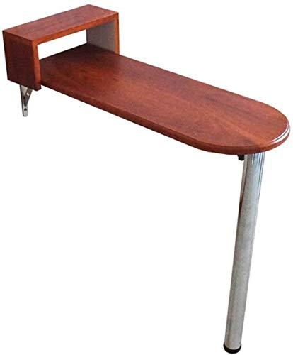 Lazy Table - Mesa plegable de pared para ordenador de mesa, mesa de comedor, mesa de pared, estante para copas de vino, ahorro de espacio, 80 x 30 x 73 cm