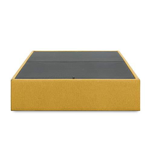 Kave Home - Aufbewahrungs- Bettgestell Matter 90 x 190 cm, senfgelb