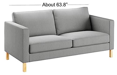 Funda de sofá Karlstad de algodón pesado de 2 plazas (ancho de sofá: 162 cm) de repuesto está hecha para IKEA Karlstad Slipcover
