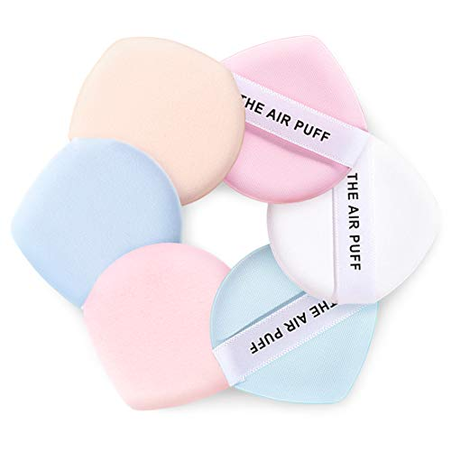 Kalevela 6pcs Air Cushion Puff Foundation Sponge Water Drop Face Powder Puffs Latex Free Makeup Sponges 2 Inch Small Powder Cosmetic Puff Pad BB Cream Sponge for Dry & Wet Use (Mixed Colors)