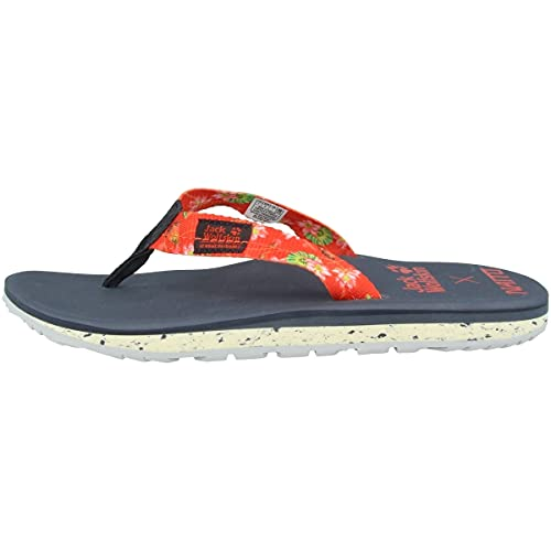 Jack Wolfskin Damen BEACHSTER W Flipflop, Tulip red All Over, 39.5 EU