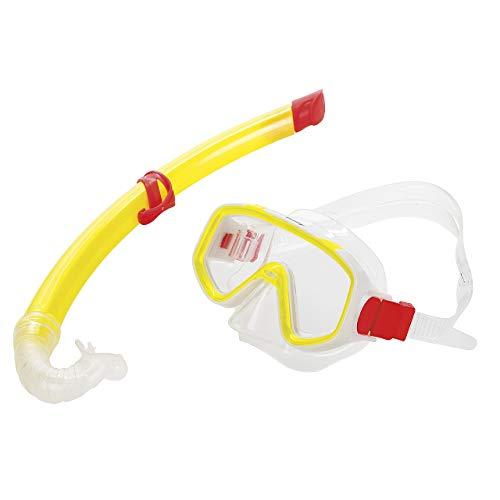 Fashy Kinder Basic Schnorchel Set, Gelb-Transparent, S