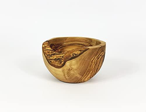 Ciotola rustica in legno di ulivo tunisino, diametro 30-32 cm.