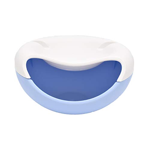 Liwein Faul Obstschale Rund,Snack Schalen Kunststoff Abnehmbare Doppelschichten Servier-Schale Kreative Schüssel mit Handyhalter für Lagerung Süßigkeiten Melonenkerne Erdnüsse Pistazien