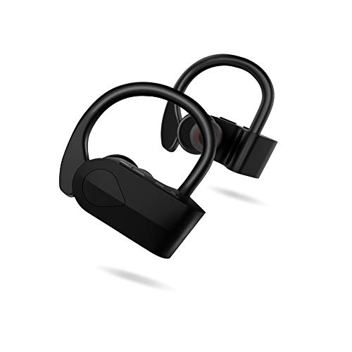 LXT Bluetooth Headphones, Wireless Earbuds with Mic Hi-Fi Stereo Richer Bass Earphones 4 Hours Playback Sweatproof Secure Fit in Ear for Running,Jogging,Workout