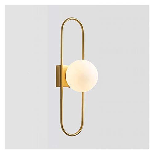 Lámpara de Pared Lámpara de pared del planeta creativa Moderno Minimalista Minimalista Luz de pared de pared de pared Lámparas de iluminación de iluminación, pantalla helada, no regulable Aplique de p