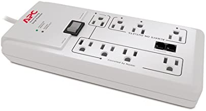 APC P8GT 8 Outlets 120V Power-Saving Home/Office SurgeArrest with Phone Protection
