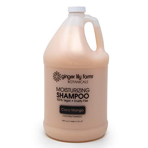 Ginger Lily Farms Botanicals Coco Mango Moisturizing Shampoo, 100% Vegan, Paraben, Sulfate, Phosphate, Gluten and Cruelty-Free, 1 Gallon New York