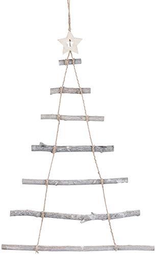 Britesta Deko Weihnachtsbaum Holz: Deko-Holzleiter in Weihnachtsbaum-Form zum Aufhängen, 48 x 78 cm (Deko Holzleiter Tannenbaum)