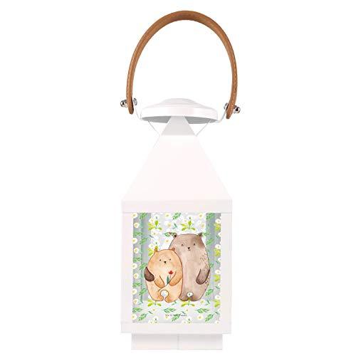 Mr. & Mrs. Panda , S Gartenlaterne Bären Liebe - Farbe Transparent