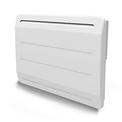 VOLTMAN VOM540033 - Radiateur en Fonte - 1000 Watts - Détecteur de Fenetre Ouverte - LCD Programmble - Blanc