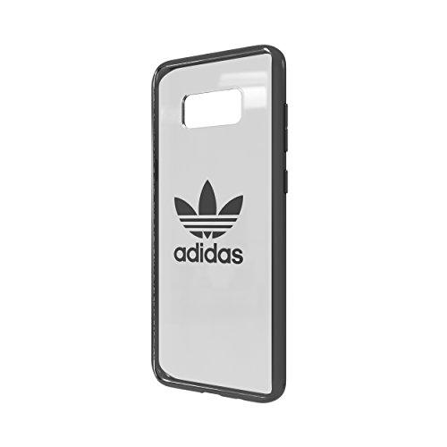 adidas Originals Clear Case Handyhülle für Samsung Galaxy S8+ Gunmetal Logo