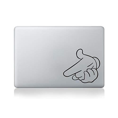 Pegatinas de vinilo de PVC para MacBook Pro 13 15 Air Retina 11 13 15 Lindo ordenador portátil para HP Asus, Xiaomi Huawei Lenvo Surface-MB BlackPart B (346) y otros portátiles de 15 pulgadas