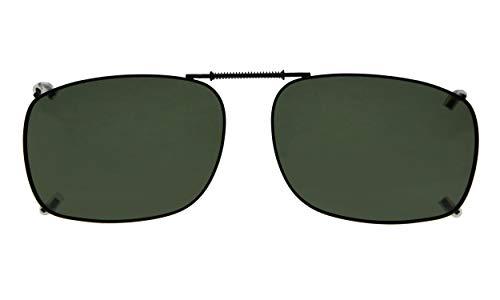 Eyekepper Metal Frame Rim Polarized Lens Clip On Sunglasses 5437MM (G15 Lens)