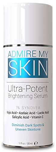Dark Spot Corrector Remover for Face - Dark Spot Fade Cream Melasma Treatment Age Spot Remover For Women with Synovea, Kojic Acid, Vitamin C, Salicylic Acid, Azelaic Acid, Lactic Acid Serum Peel (1oz)