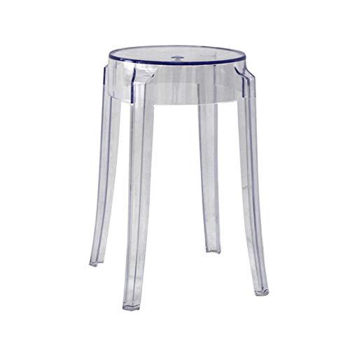 LRW Taburetes de plástico, sillas acrílicas espesas, taburetes, sillas, taburetes Altos, taburetes Altos y Colores Transparentes.