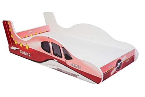 Lux4Kids Angelbeds lit d'enfant Voiture Motifs sommier à Lattes Flex Matelas aéroplane Plane 2
