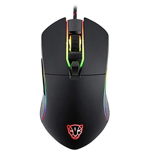 YKDY MOTOSPEED V30 Professional Gaming Mouse USB Wired Optical Mouse Adjustable 3500DPI Resolution RGB LED Backlight