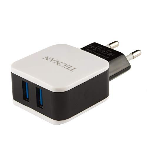 tecnan Cargador con 3 puertos USB, 3,1 A, adaptador de