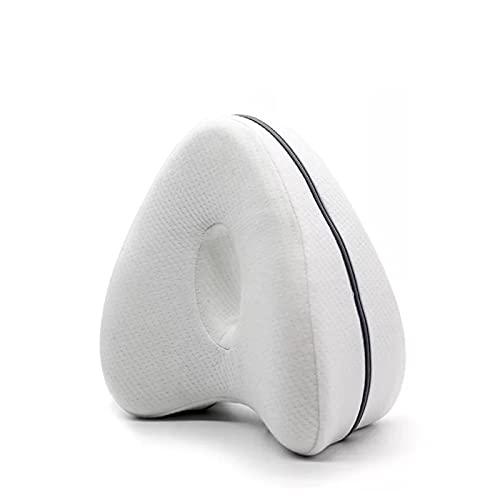 WLBH Almohadas de Rodilla para durmientes Laterales - Alivio del Dolor de la ciática: Dolor de Espalda, Dolor en la Pierna, Embarazo, Cadera y Dolor en Las articulaciones White-25 * 23 * 13cm
