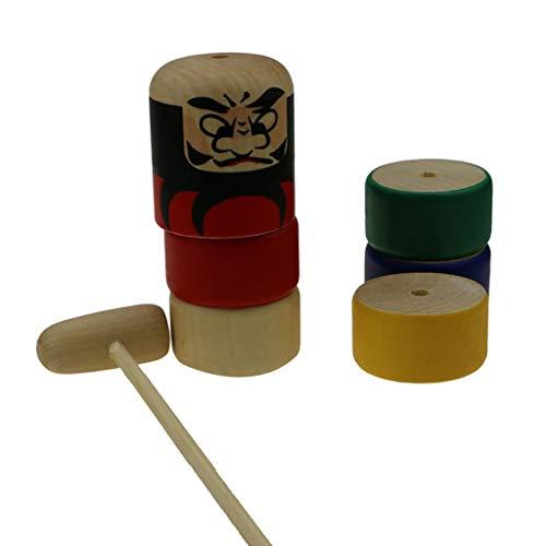 Mifelio Wooden Puzzle Tapping Wonders Balancing Block Barnyard Playset,Wooden Stacking Blocks...