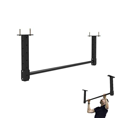 GJHBFUK Klimmzugstange Klimmzugstange Pull-up-Bars Startseite Pull-up-Trainer Chin-Up for Oberkörpertraining Professionelle Multifunktions-Fitness Powerbar klimmzugbügel (Color : Black)