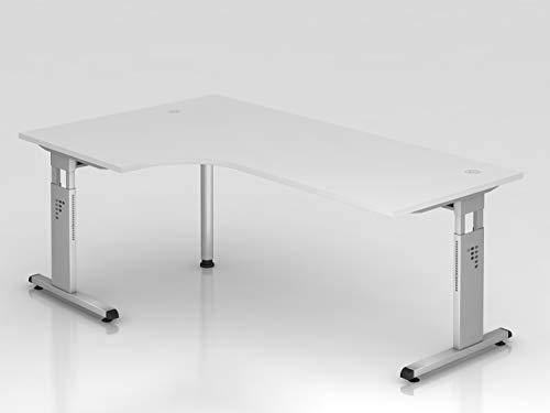 HAMMERBACHER VOS82/W Schreibtisch L-Form weiß,SI