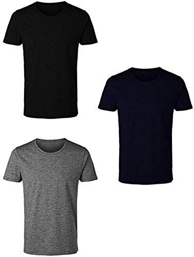 Enrico Coveri 3 t-Shirt Uomo Mezza Manica Girocollo Caldo Cotone Interlock Art. ET1200 (5/L, Assortito)