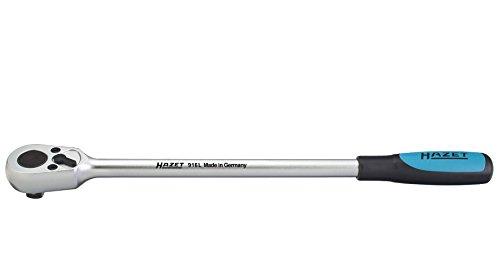 HAZET Umschaltknarre (1/2 Zoll Vierkant, 32 Zähne, lange Ausführung: 389 mm) 916L
