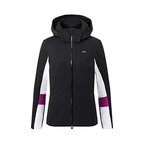 KJUS Women Laina Jacket Schwarz-Weiß, Damen Regenjacke, Größe 42 - Farbe Black - White