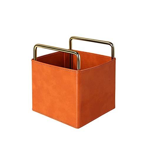 Portalápices Tenedor de lápices de cuero, taza de lápices Organizador de papelería accesorios de oficina Caja de contenedores, para dormitorio de oficina en casa organizador escritorio ( Color : A )