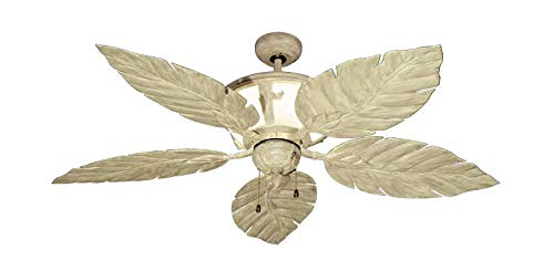 Gulf Coast Fans Venetian Tropical Ceiling Fan with Internal Light in Driftwood, 52 Inches