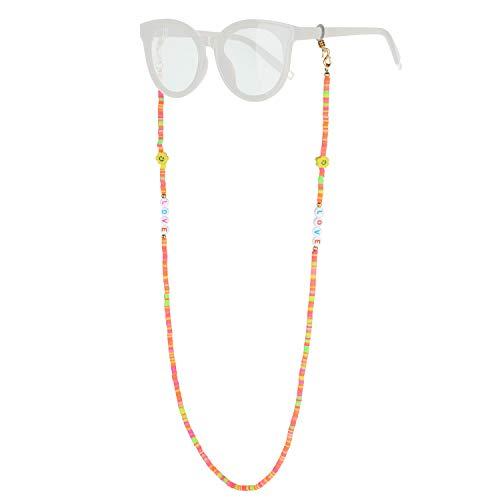 KELITCH Cadena De Anteojos Máscara Collares Soporte Cordones Gafas Gafas De Sol Collares De Hebra Soporte Collar Collares Retenedor (14P)