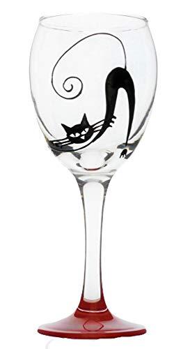 Memories-Like-These UK Verre à vin en Forme de Chat Rouge 325 ML