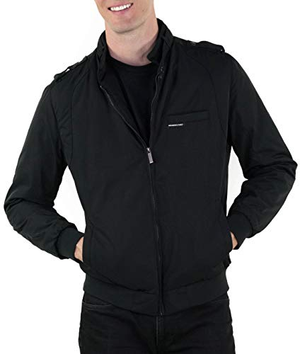Members Only Men's Heavy Iconic Racer Quilted Lining Jacket ( XL, Black )