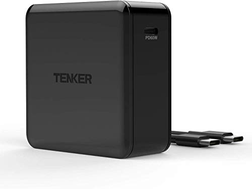Tenker USB Type-C PD Charger with 60W Power delivery, PowerPort for MacBook Pro/Air, iPad Pro, iPhone Xs/XS Max/XR/X/8/8 Plus, Nintendo Switch, Moto Z, Samsung S9, Mate Book and More