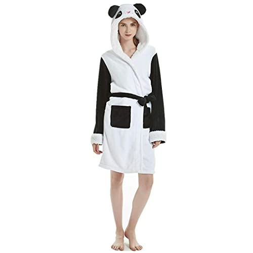 Loman Albornoz Albornoz Mujer Pijamas Toalla Albornoz Ligero Algodón Suave Envoltura Ropa de Dormir con Capucha