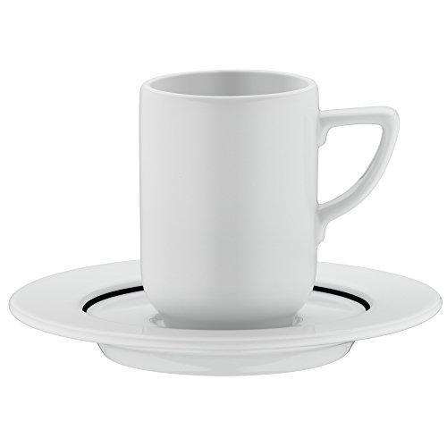 WMF Espressotasse, mit Untertasse Michalsky Tableware, dekotiert Porzellan, spülmaschinengeeignet