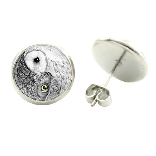 vintage yin yang tai arte gufo orecchini steampunk uccelli charms bel bambino gufo donne gioielli fatti a mano regali