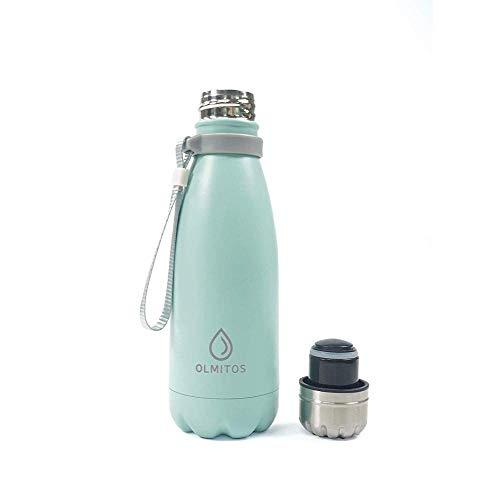 Olmitos 1730 Botella Térmica de Acero Inoxidable, 350 ml, Azul