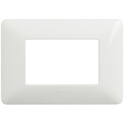 BTicino Matix AM4803BBN Placca 3 Moduli, Bianco, 1 pezzo