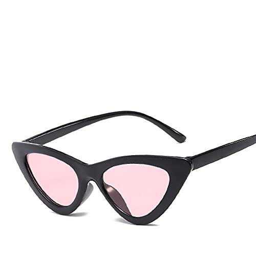 ShSnnwrl Gafas De Moda Gafas De Sol Gafas De Sol De Ojo De Gato Retro Sexis para Mujer, Gafas De Sol Vintage Triangulares Pequeñas De Ojo De Gato para Mu