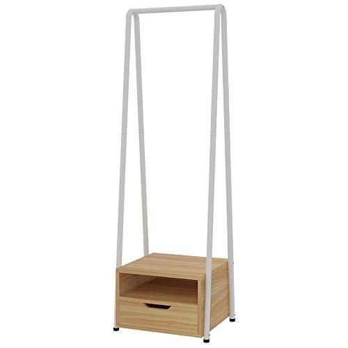 POETRY Multifunctionele kast MDF + stalen woonkamer slaapkamer met laden Praktische kleerhanger opbergrek A ++ (afmeting: 43x40x148cm)